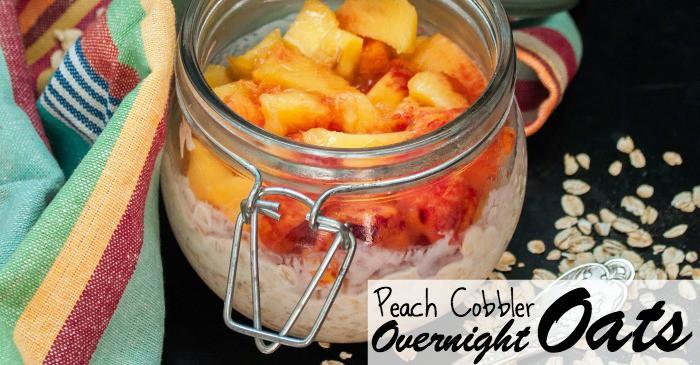 peach cobbler overnight oats recipe fb