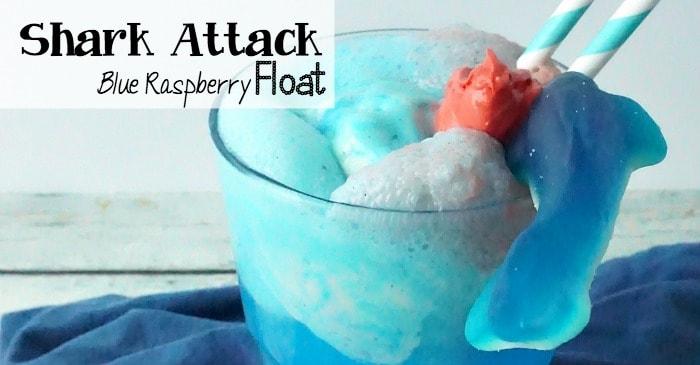 shark attack blue raspberry float recipe fb