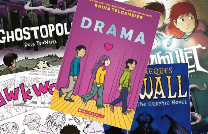 55 graphic novels for middle grade readers that are reluctant to read fea