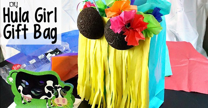 DIY Hula Girl Gift Bag fb