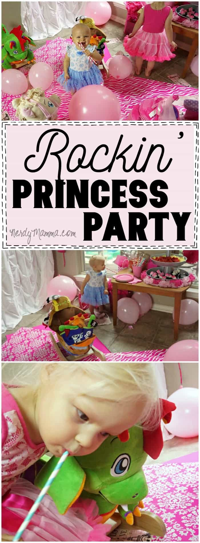 I LOVE this Rocking Princess Party idea. So simple--and SO MUCH FUN! I can't wait to do this for my daughter's next playdate.