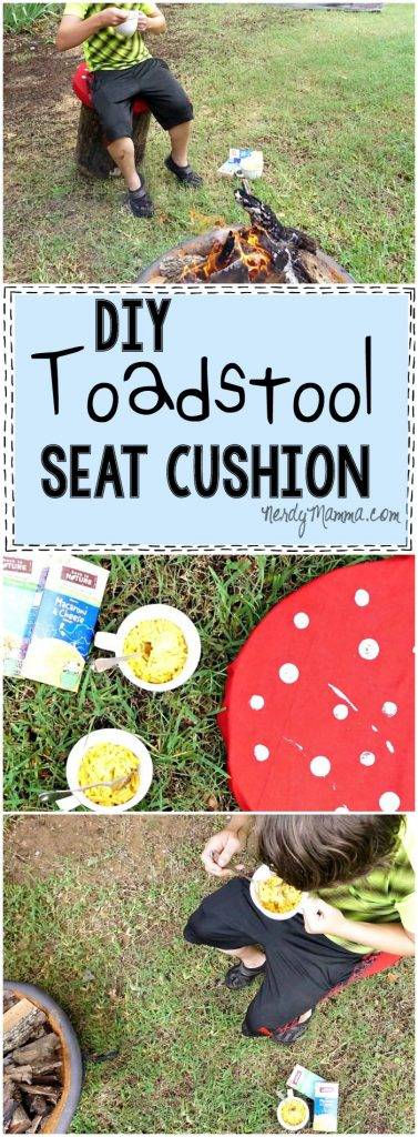 I LOVE this tutorial for this cute DIY Toadstool Seat Cushion. So adorable! I can't wait to make my own.