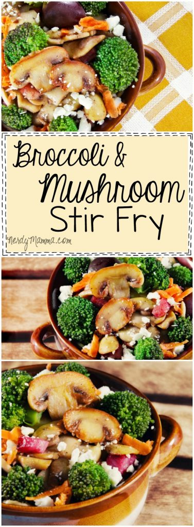 I love this easy recipe for Broccoli & Mushroom Stir Fry! It's so simple--the perfect back to school dinner.