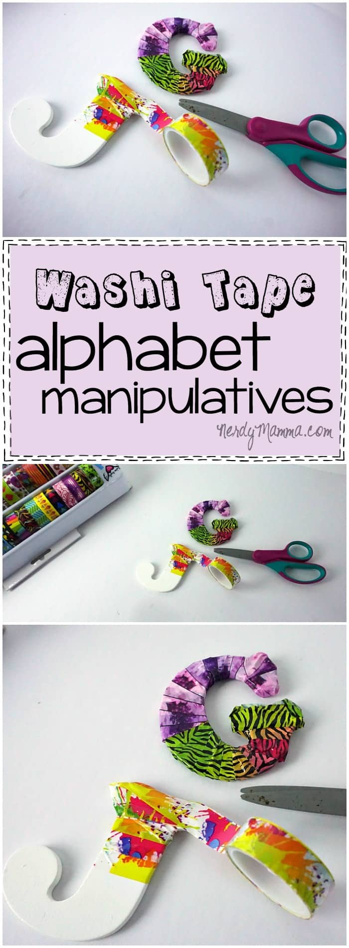 I love this idea for making alphabet manipulatives! So easy and fun!
