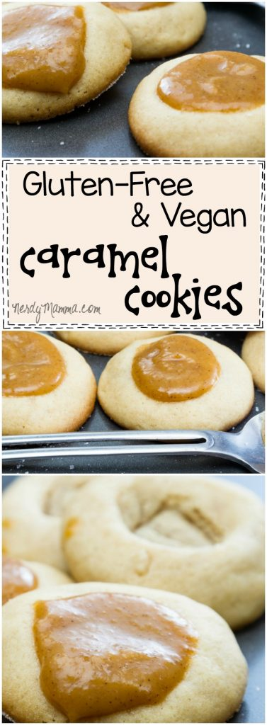 I love this recipe for these simple, but yummy gluten-free and vegan caramel cookies. Sounds so yummy.