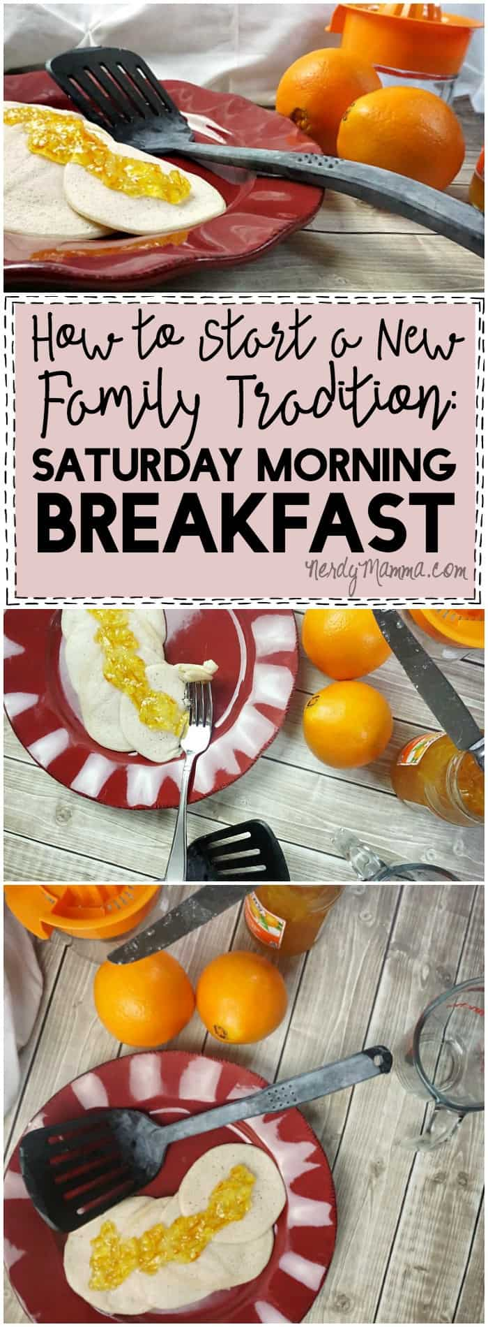 I love this--what a simple way to free up your weekends from shopping and start a new family tradition of having Saturday Morning Breakfast together!