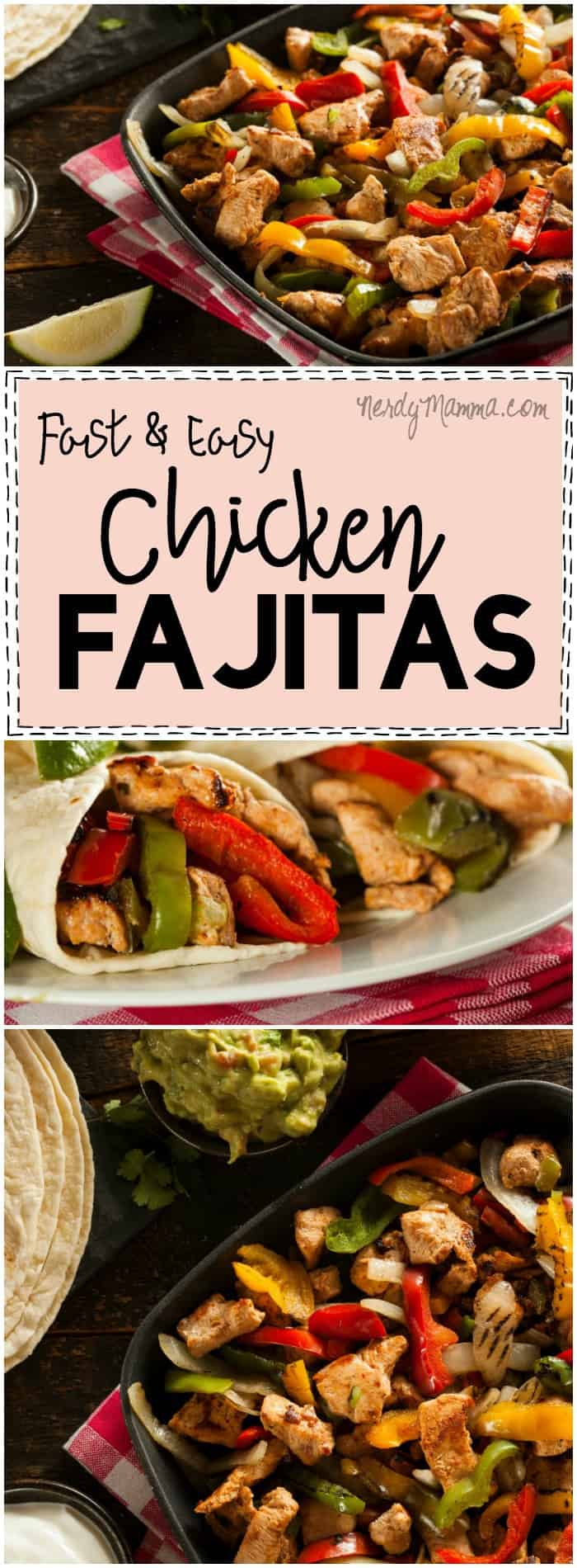 I. Just. LOVE. This recipe for fast and easy Chicken Fajitas! So simple...but so yummy!