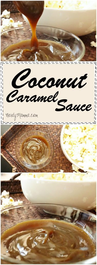 Oh, this coconut caramel sauce is such a great idea! A low-sugar caramel I could totally use this (and the kids would never know!).