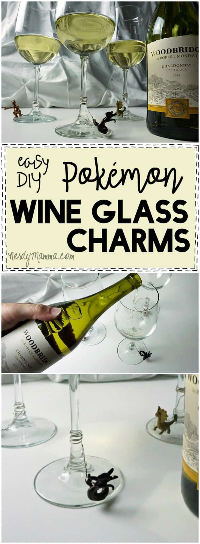 This cute tutorial for these adorable Pokemon wine charms! So AWESOME. I have to make them now. LOL!