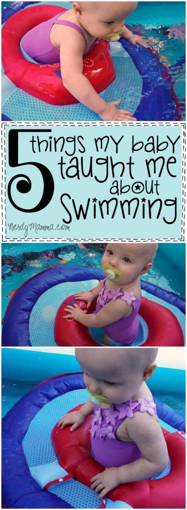 This mom. She's so fun. I love what she says her baby taught her when they were doing swimming lessons.