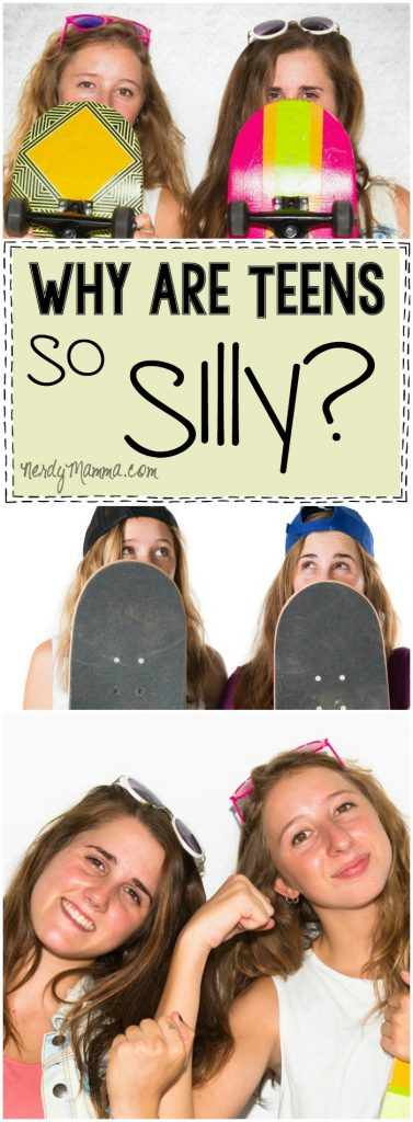 This mom's thoughts--she's so funny, but right. Teens act so silly...and this is exactly why! LOL!