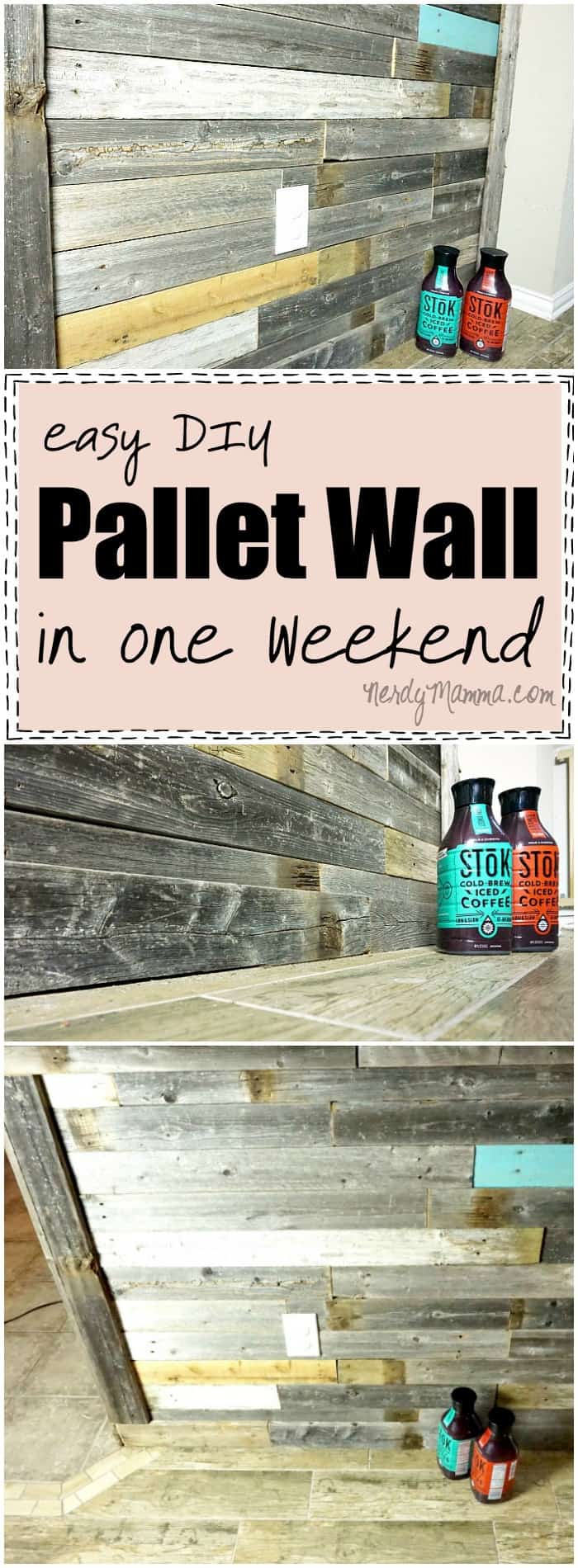 This tutorial for an Easy DIY Pallet Wall is SO simple. I love how all the best tips are gathered in one place and you can just follow these instructions.
