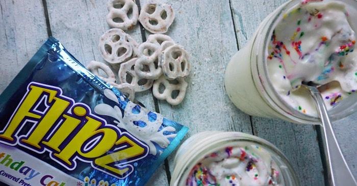 easy 3-ingredient birthday cake milkshake fb