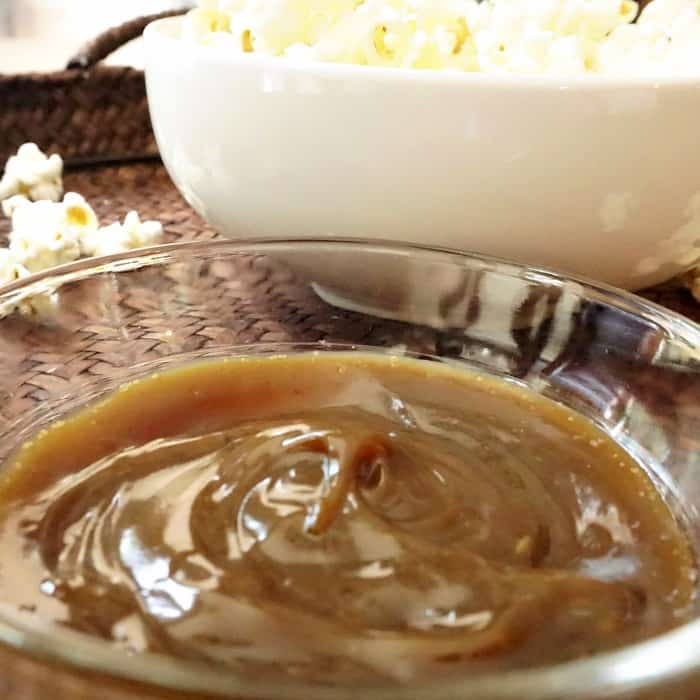 easy caramel sauce made with coconut sugar sq