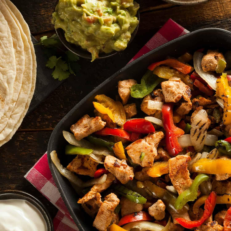 easy chicken fajita recipe sq