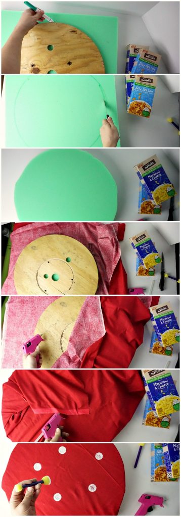 easy tutorial for making a seat cushion for camping