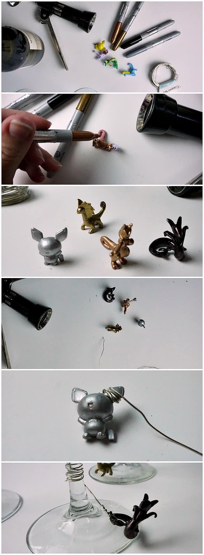 how to make a wine glass charm with a pokemon on it tut