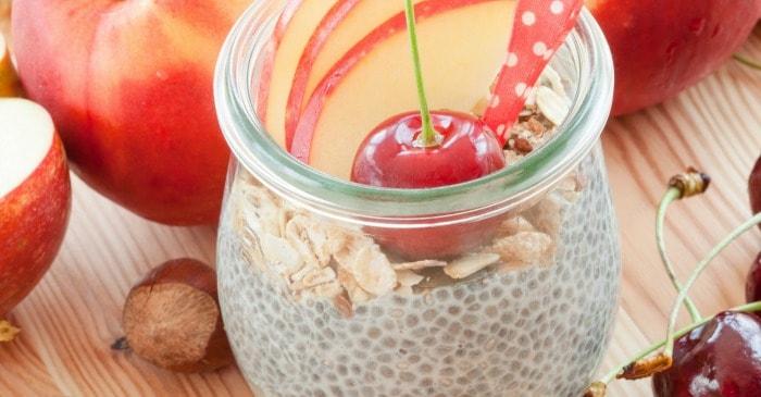 recipe for chia seed pudding that tastes like apple pie fb