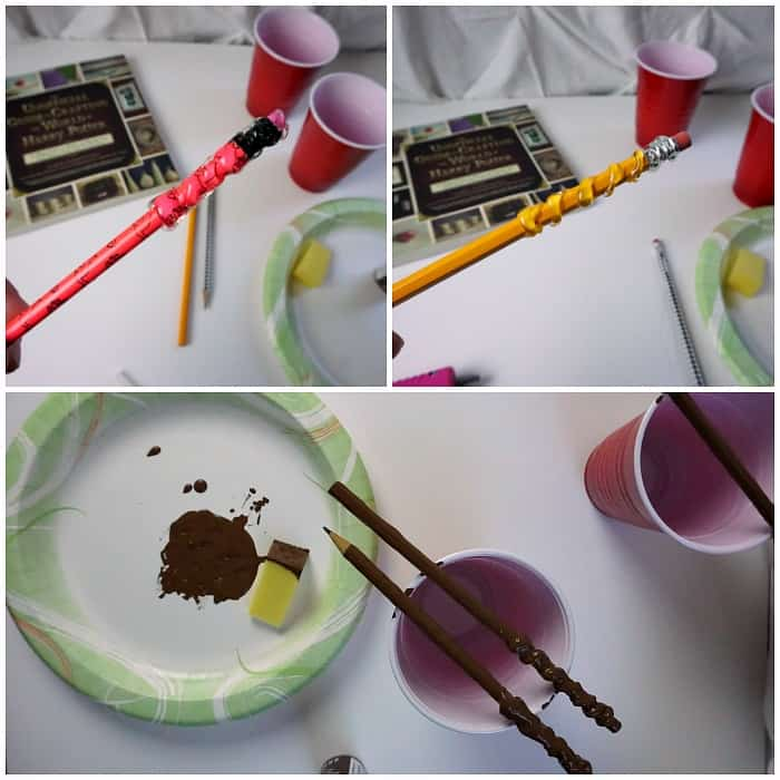 steps for making a wizard wand out of a pencil tut