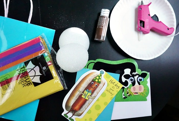 what you need to make a hula girl gift bag ingredients