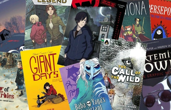 young adult graphic novels for reluctant readers fea