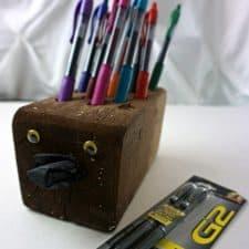 Easy Hedgehog Pen Holder Teacher Gift