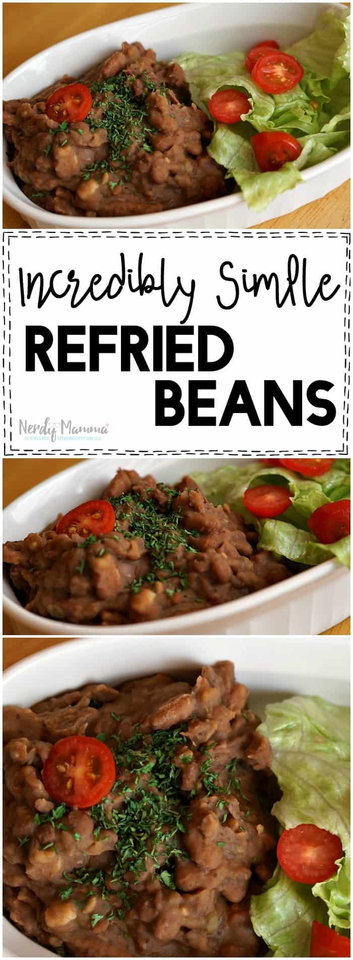 I LOVE this incredibly simple refried beans recipe. So easy. I had no idea.