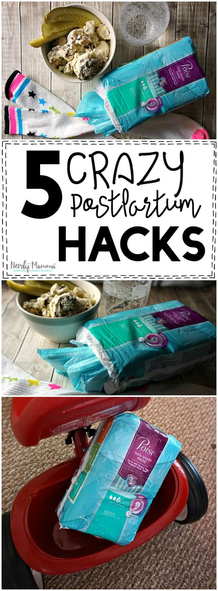 I just love these 5 Crazy Postpartum Hacks. Am about to have my first and I really had NO IDEA...you just don't think of this. LOL!