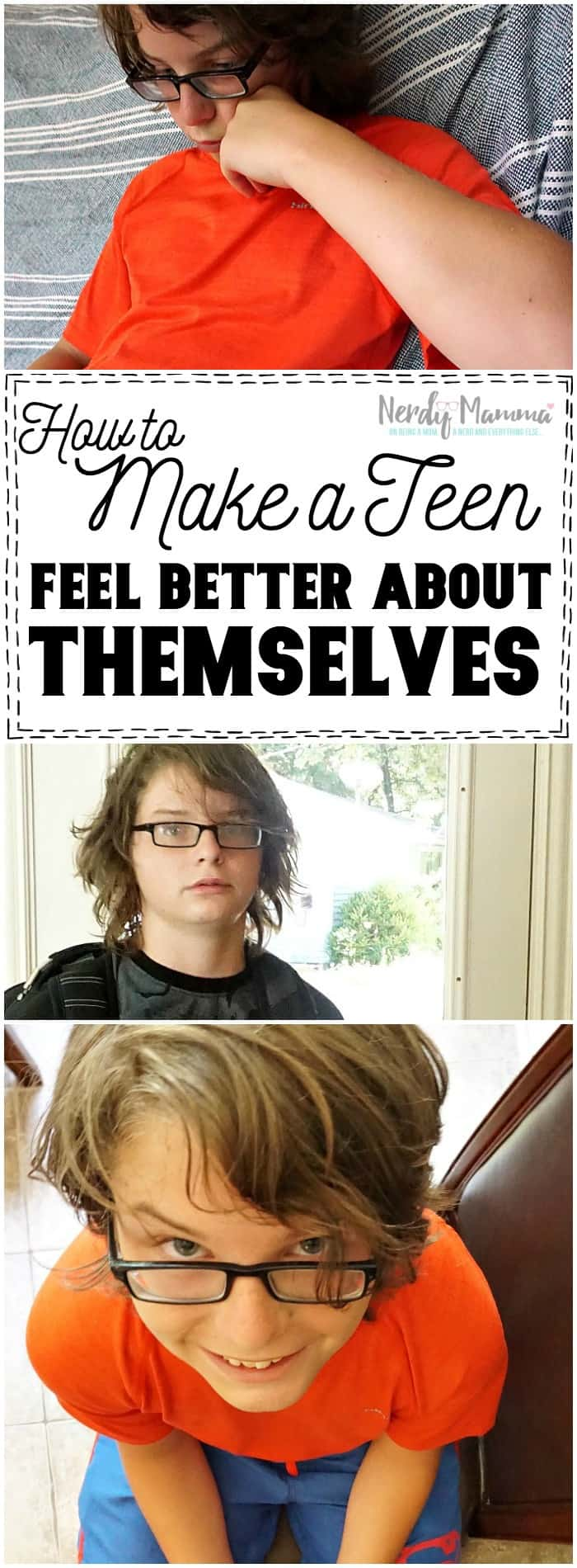 I love this easy, ONE Step to helping a teen feel better about themselves. So awesome.