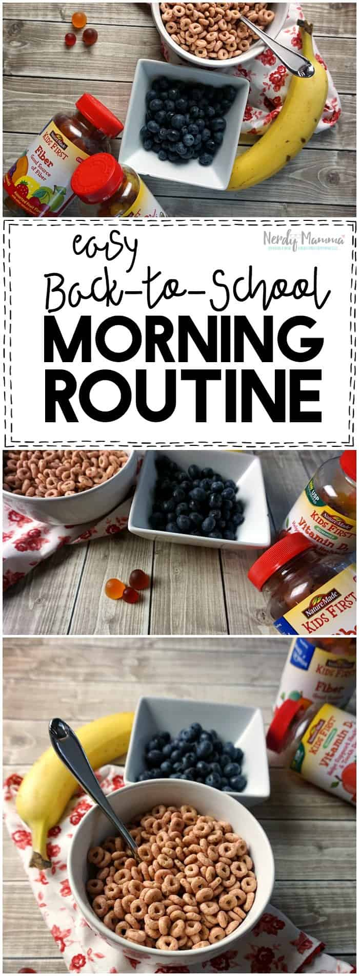 I love this free printable back to school morning routine! So simple--but super helpful for the kids!