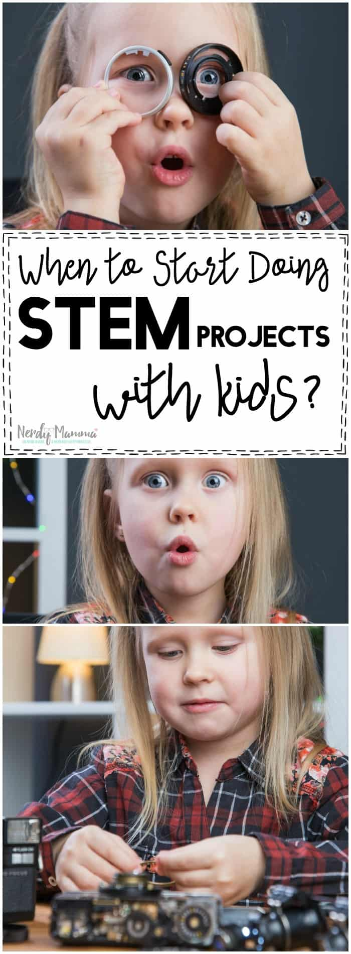 I so agree with this mom about when to start doing STEM projects with kids. So smart.