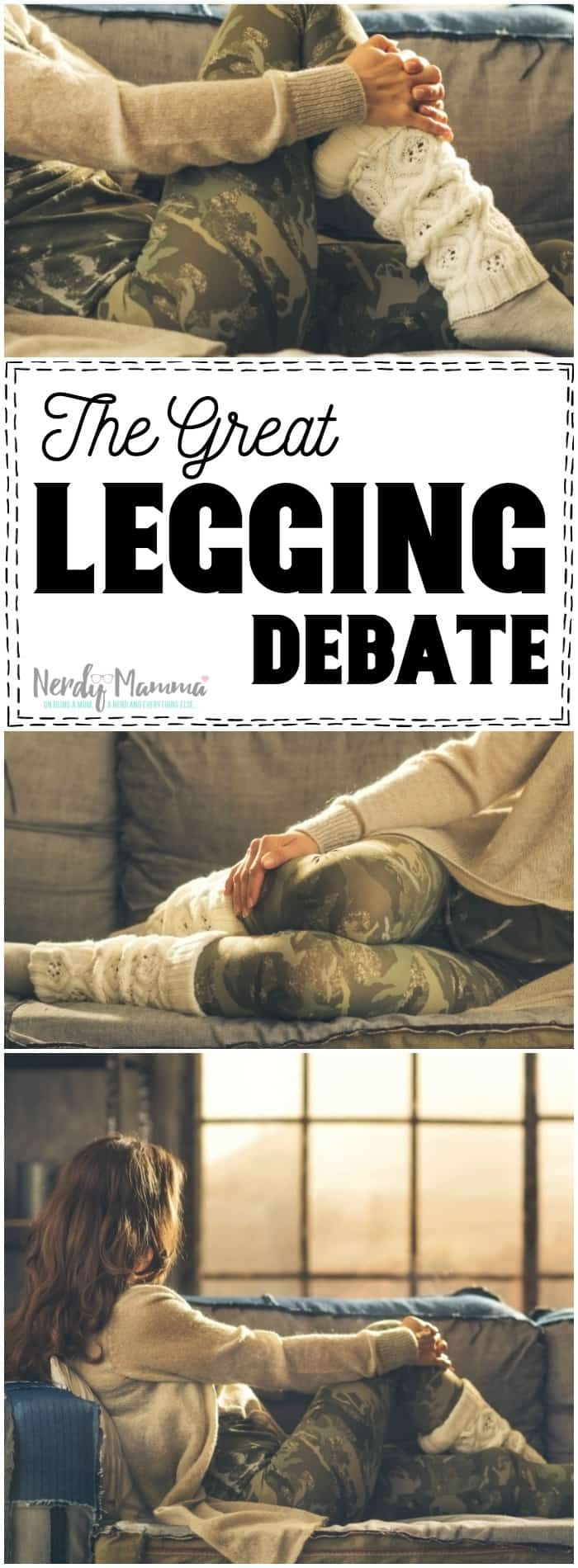 Oh, this mom. She's so funny. Going over the great legging debate Yeah, she nails it. LOL!