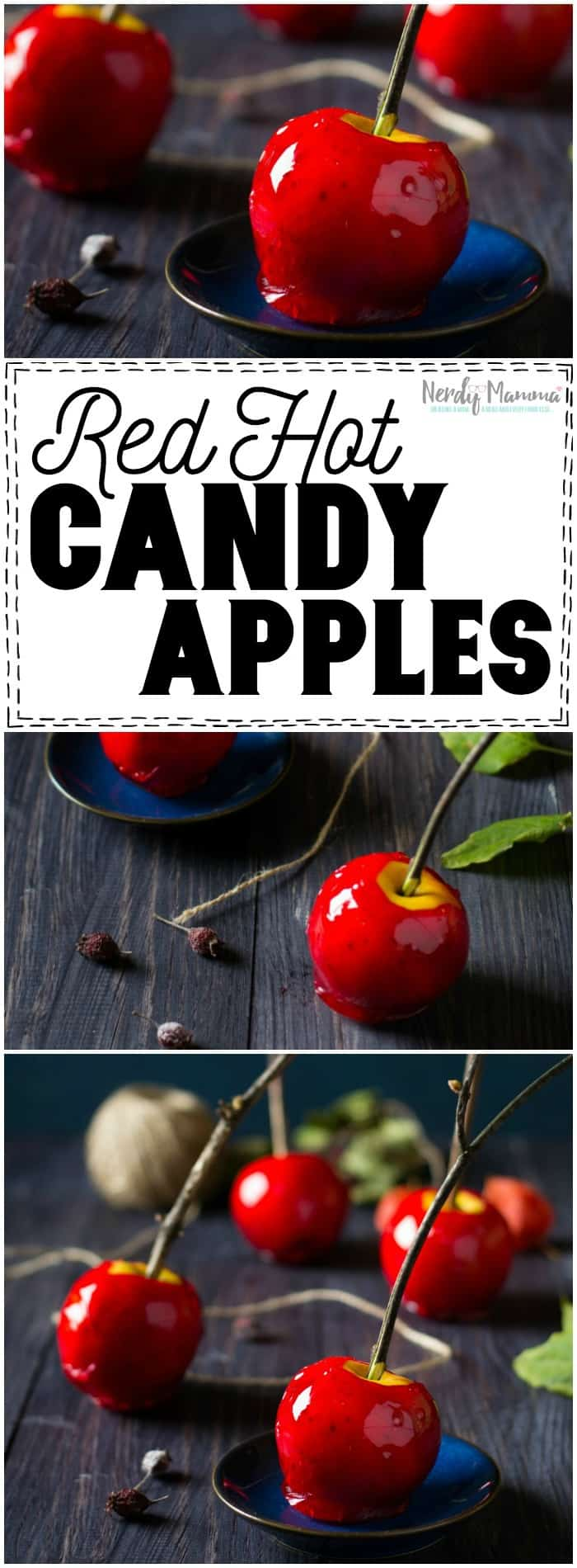 Oh, this recipe for Red Hot Candy Apples is TO DIE FOR. I totally need these now.
