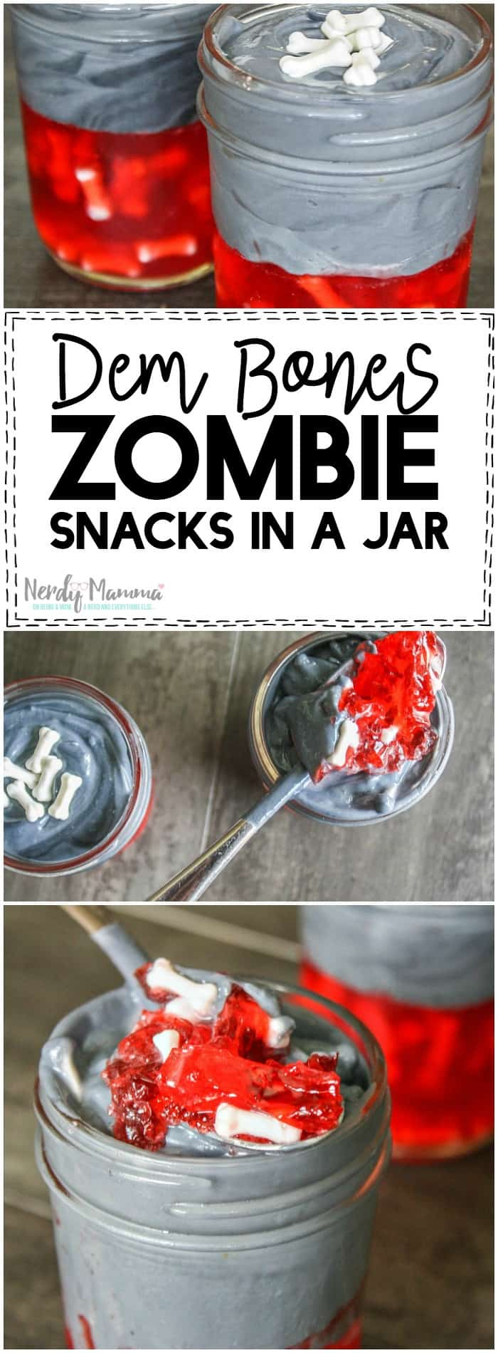 Oh, this recipe is so simple. But the kids are going to LOVE it! I mean--who doesn't want Zombie Snacks in a Jar! LOL!
