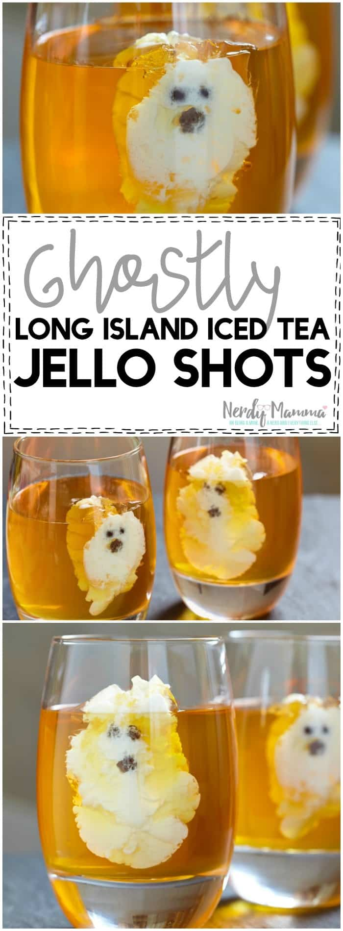 Oh, wow. I can't wait to try this recipe for Ghostly (heh) Long Island Iced Tea Jello Shots at my Halloween Party! So fun! Love it!