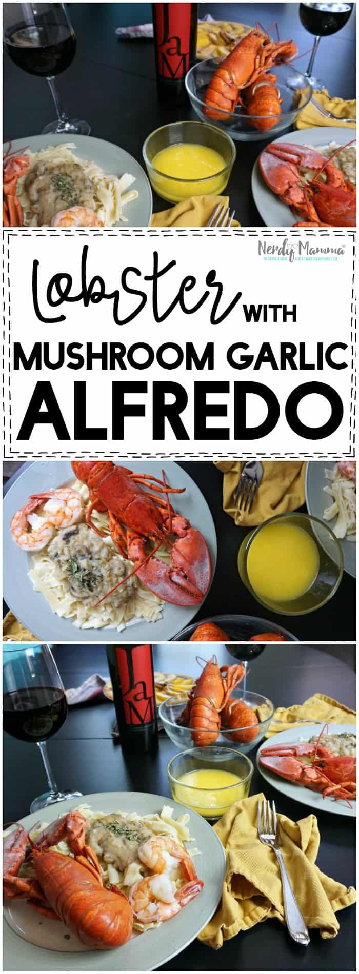 Oooh! This recipe for Lobster with a mushroom and garlic alfredo sauce made without cheese! Sounds amazing! Great vegan and gluten-free recipe (well, except for the lobster, LOL!)