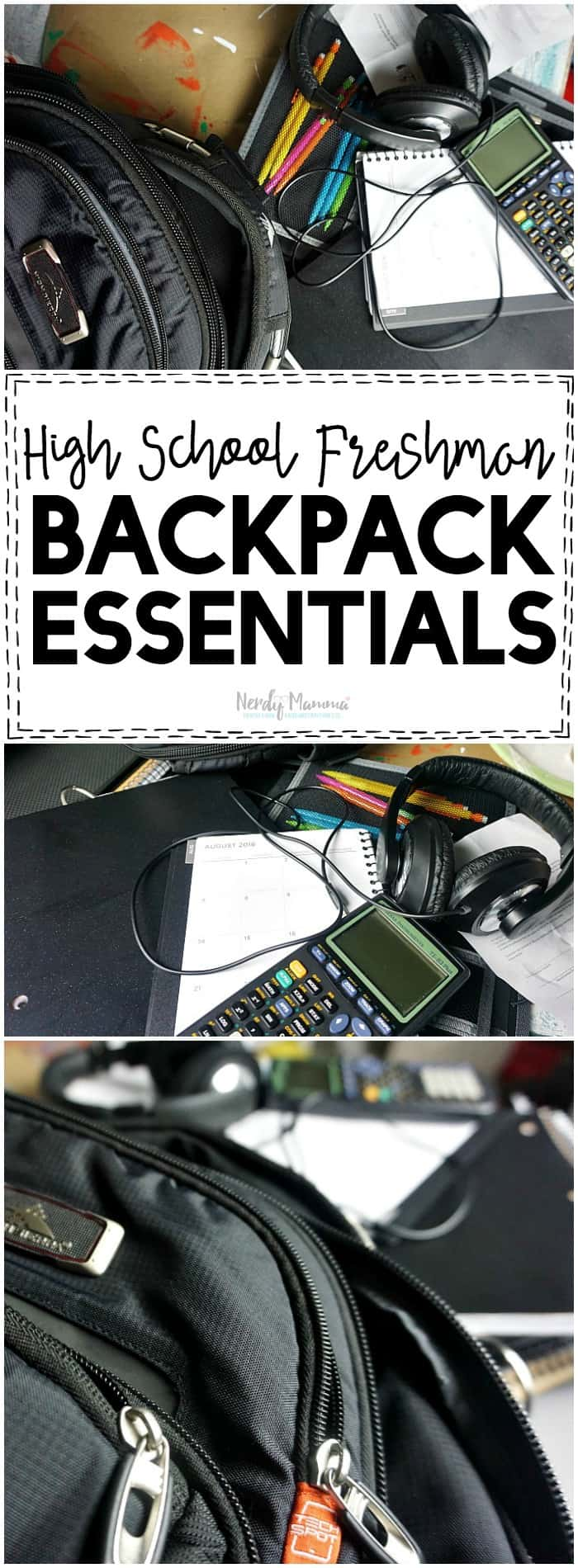 These are such great tips for a High School Freshman's Backpack. Love it!