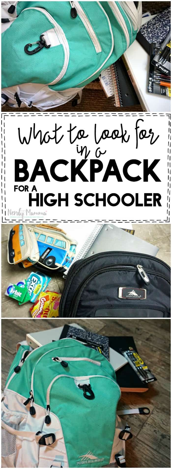 This is a great set of tips for what to look for in a backpack for a high schooler. Totally pinning for back to school shopping.