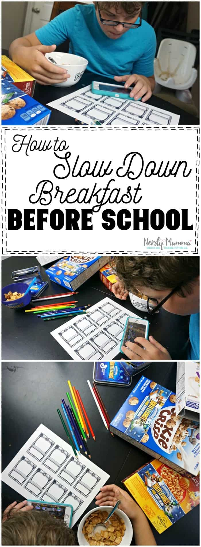 This mom's ideas on how to (and why you should) slow down breakfast for your kids before school Brilliant.