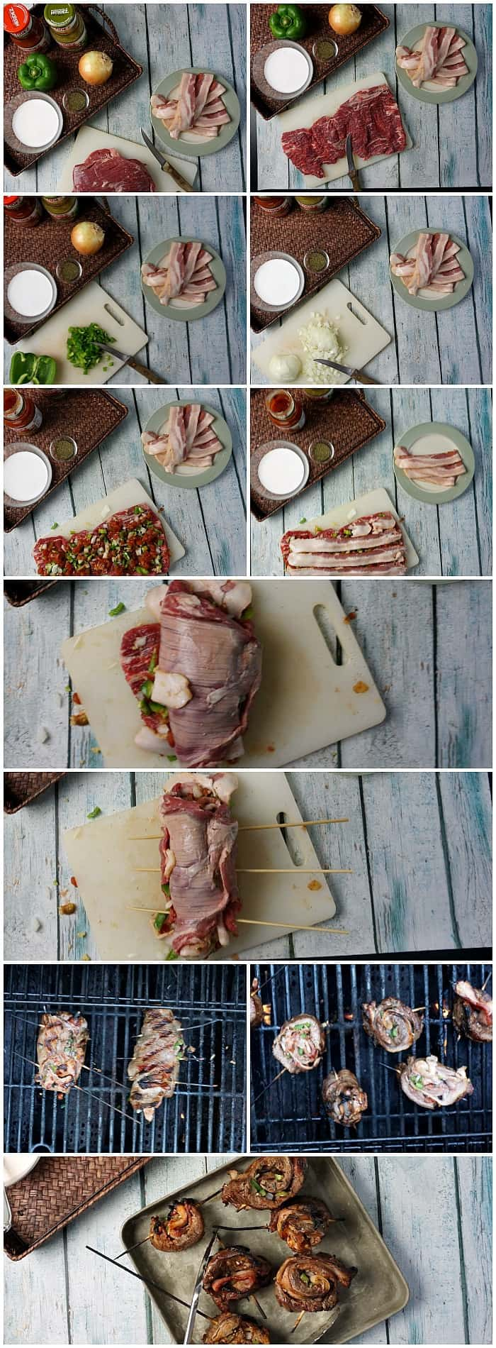 Tutorial for how to make a steak pinwheel recipe