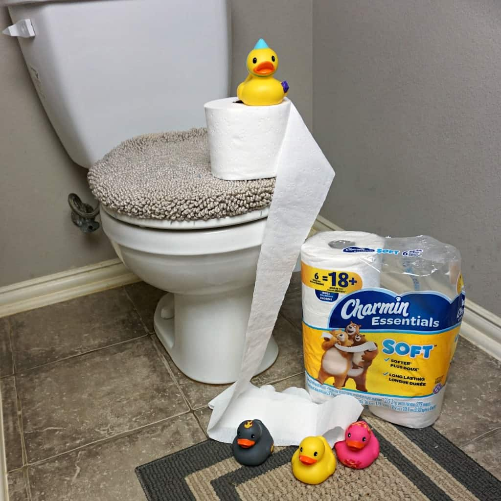 We're in trouble now, the ducks are staging a revolution for better toilet paper. And they're winning. Heh.