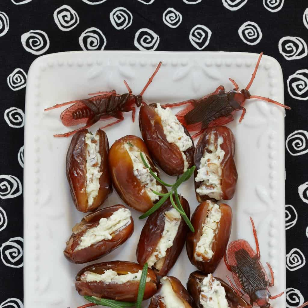 ROACHES! Yumm-eeee! – Crunchy Cheese-Stuffed Dates