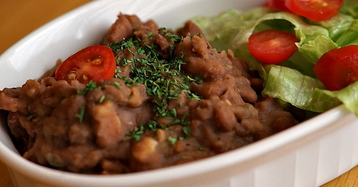 easy recipe for refried beans fb