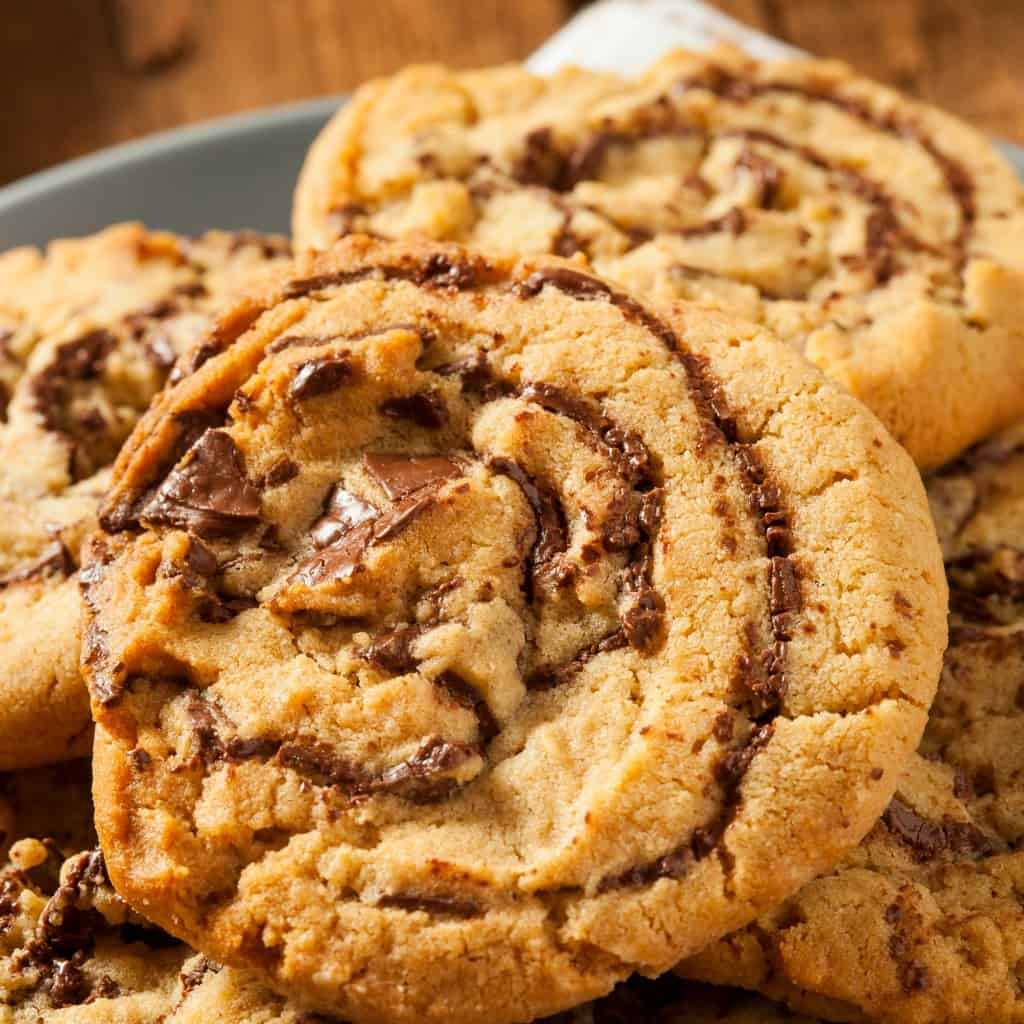 easy swirled chocolate and peanut butter cookies sq
