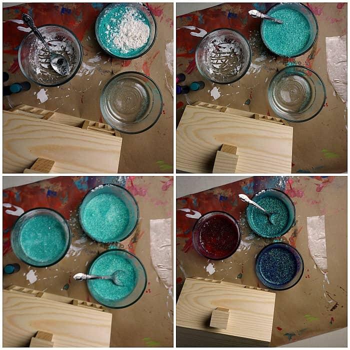 easy tutorial for making homemade finger paints