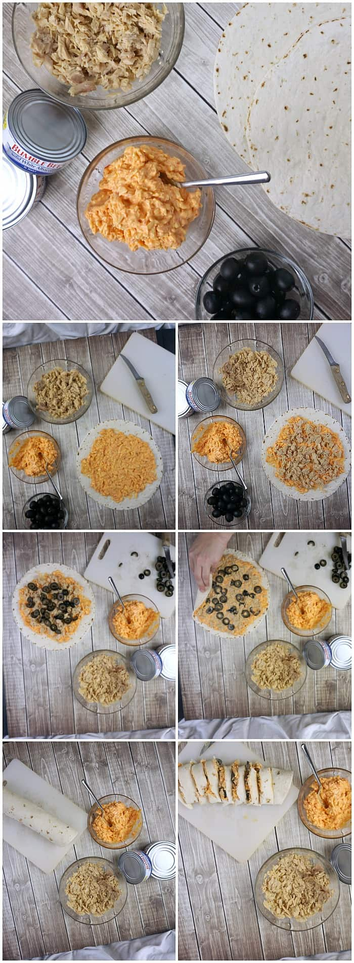 easy tutorial for making tuna and cheese roll-ups for kids snacks