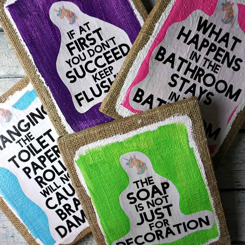 funny bathroom sayings DIY sq