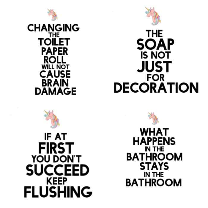 Funny But True DIY Bathroom Art Free Printable Nerdy Mamma