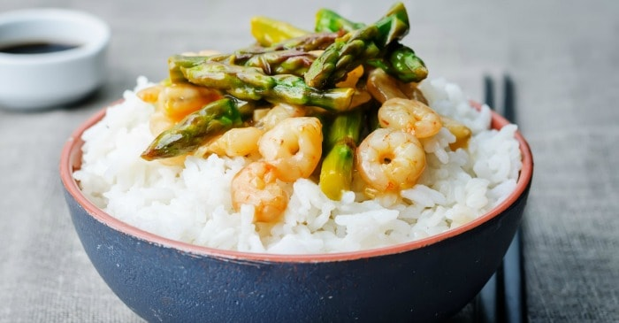 gluten free stir fry with shrimp and vegetables fb