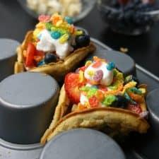 Easy Rainbow Tacos After School Snack {GF & V}